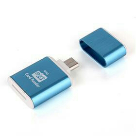 JS MINI MICRO USB SMARTPHONE OTG CARD READER FOR TF / MICRO SD CARD