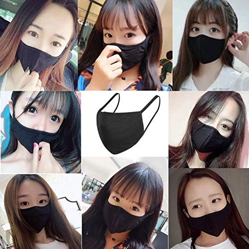 ...From JSP 12PCS Face Covering, Mouth Covering Unisex Black Dust Cotton, Wash