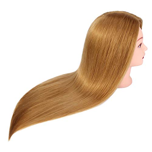 "...From JSP Mannequin Head with 60% Human Hair, TopDirect 20 "" Blonde Rea"