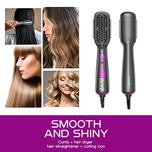 ...From JSP mesky Hot Air Brush  & Hair Straightener Brush, 4-in-1 Hair Dryer