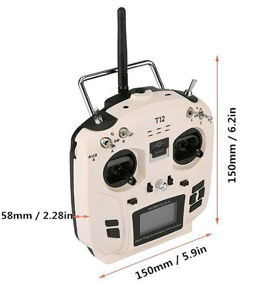 Jumper T12 Open Source 16ch Radio with JP4in1 Multi-protocol RF MODE 2