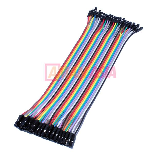 Jumper Wire Dupont Female to Female 20cm 40pin For Arduino PIC