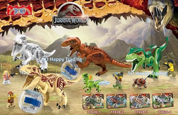 jurassic world dinosaur lego compatible bricks 2 pcs yg 77028 - Jurassic Lego