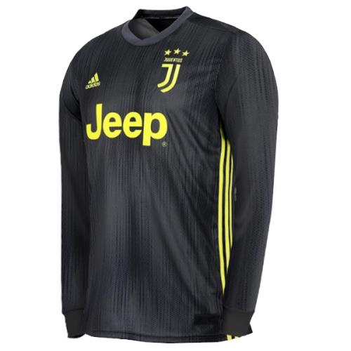 Juventus 3rd Third Kit 2018 2019 Jersey Long Sleeve Black for Men. ‹ › 2d126f8f6