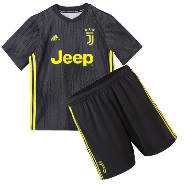 1c2518af4 Juventus 3rd Third Kit 2018 2019 Jersey Set Black for Kids. ‹ ›