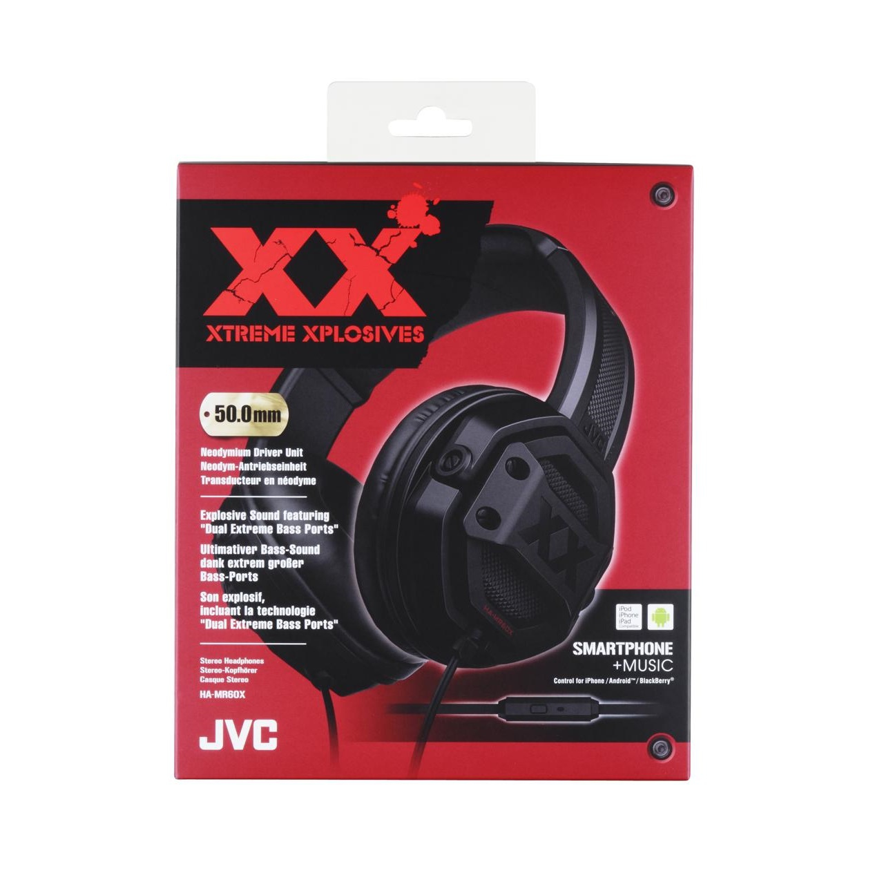 JVC HA-MR60X XTREME XPLOSIVES Over-Ear Headphones ultimate Bass Sound with  Mic