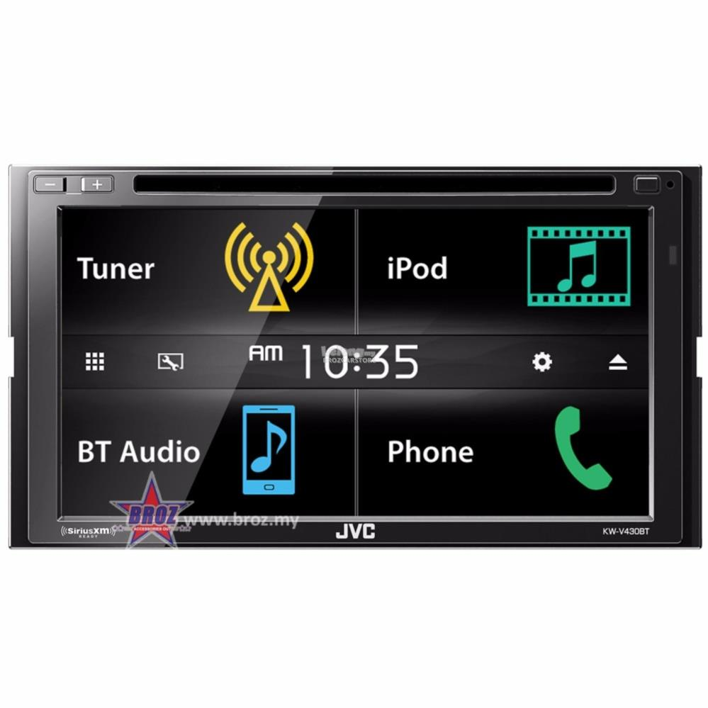 JVC KW-V430BT 6.8' In-Dash 2-Din Car DVD Receiver w/Bluetooth iPhone/