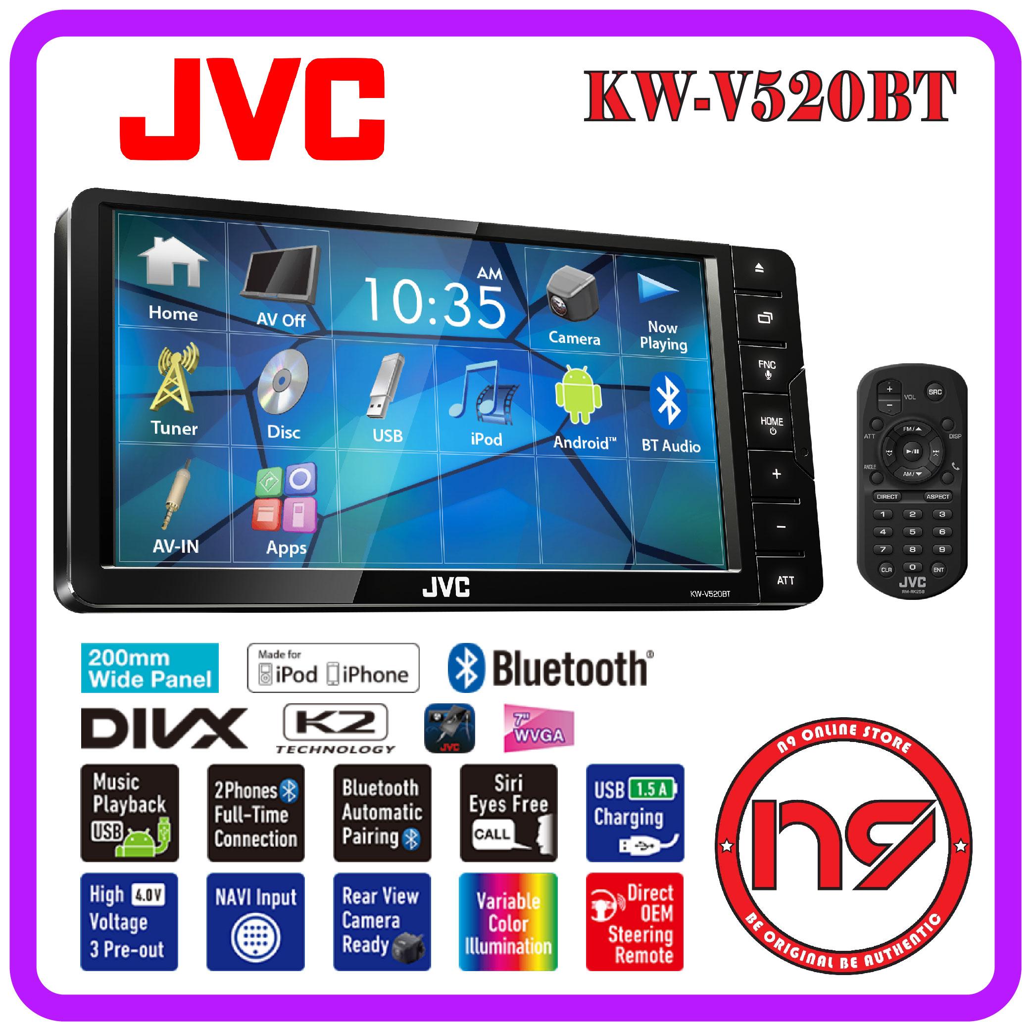 JVC KW-V520BT 7\u201d Bluetooth Toyot (end 9/7/2020 4:44 PM