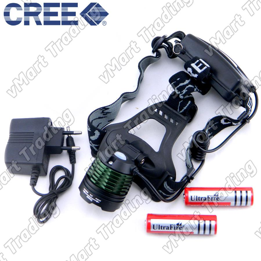 K-12 CREE XM-L T6 Zoomable Direct Charge LED Headlamp