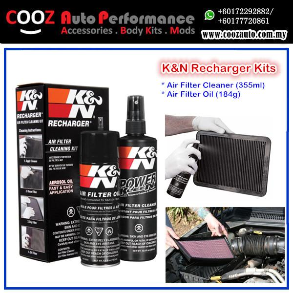 K&N RECHARGER AIR FILTER CLEAN CLEANER SERVICE KIT 99-5000