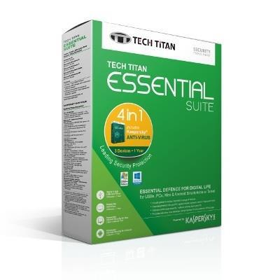 K@SPERSKY ANTI VIRUS 2017 3 + 1 USER @ TECH TITAN ESSENTIAL SUITE