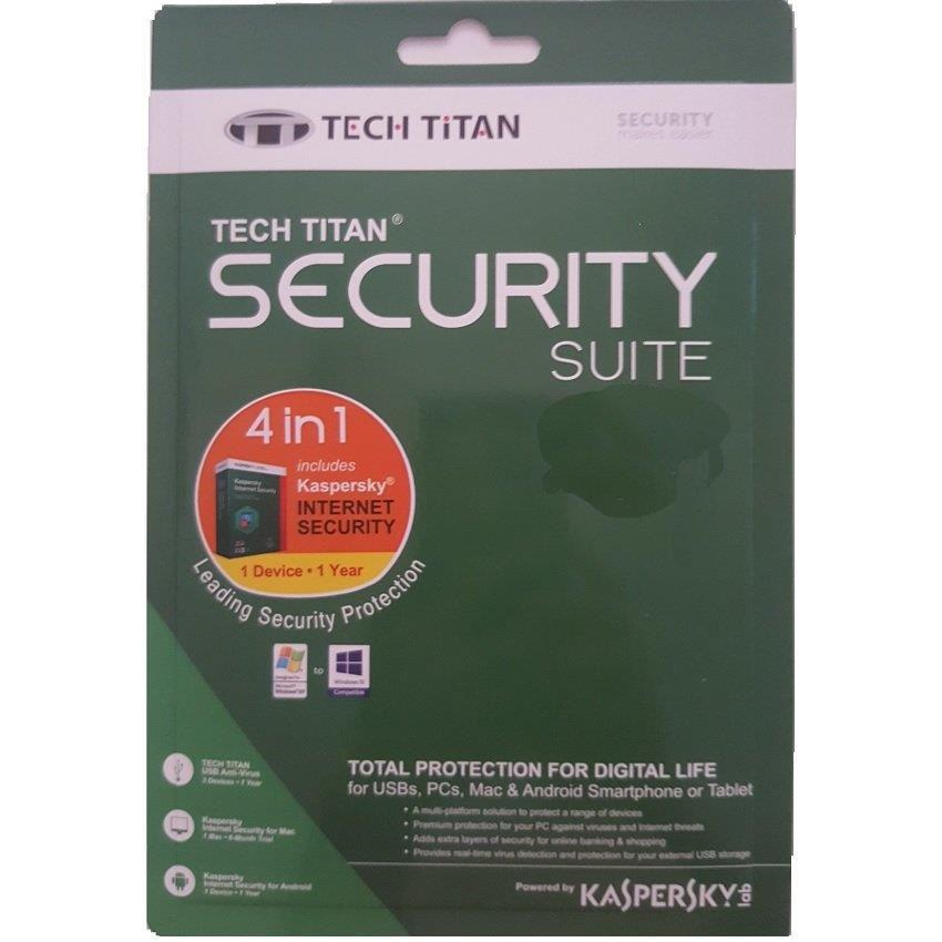 K@spersky Tech Titan Security Suite 4 in 1 - 1 Device 1 Year