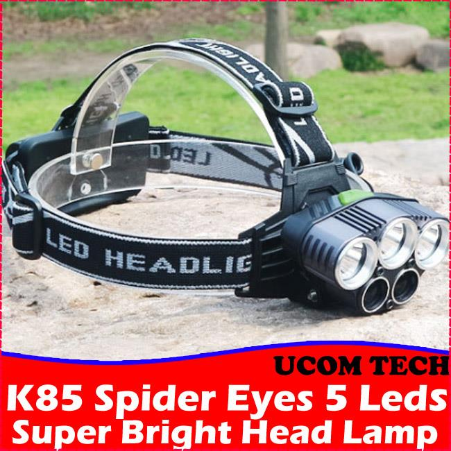 K85 Spider Eyes 5 Leds Super Bright Head Lamp Torchlight Torch Light