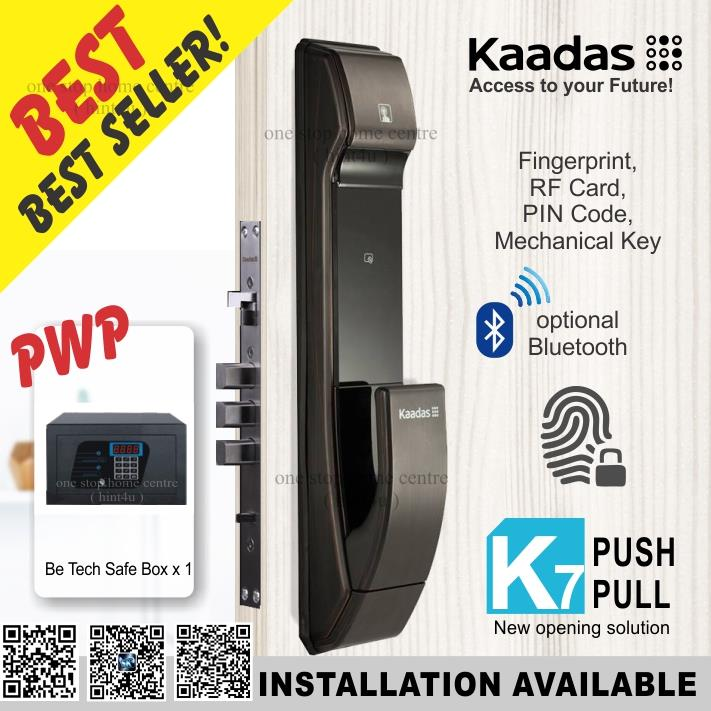 Best Digital Door Lock 2020 Kaadas K7 (BLACK) fingerprint Push (end 9/11/2020 12:15 PM)