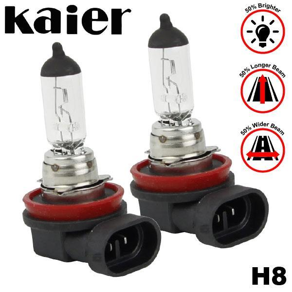 KAIER (H8) 4300K Yellowish Warm White Halogen Bulb Lamp Light (Pair)
