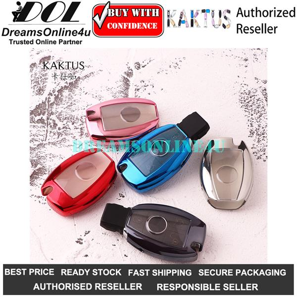 KAKTUS TPU Full Cover Car Key Shell Cover Protector for Mercedes Benz