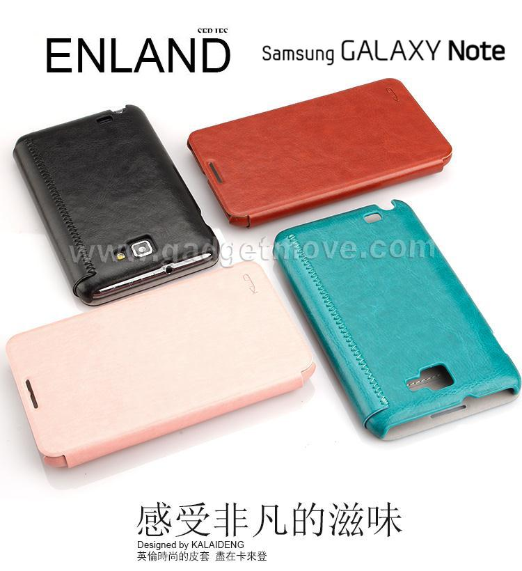 pretty nice 9a6dd f5f8f Kalaideng ENLAND Samsung Galaxy Note 1 N7000 Leather Case Cover