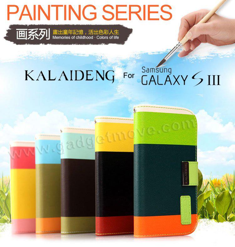 best sneakers 95258 fd04c KALAIDENG Painting SR Samsung Galaxy S3 Wallet Leather Case Flip Cover