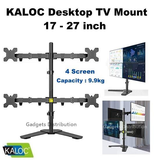 KALOC DW240-T 17 - 27 Inch Quad 4 Screen Monitor TV Mount Stand 2591.1