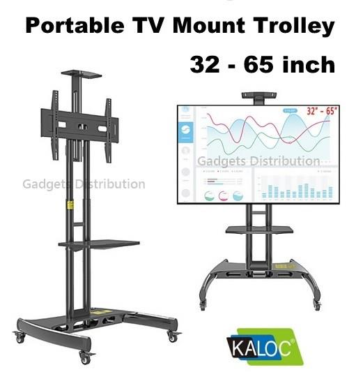 KALOC KLC-150  32 to 65 Inch TV Trolley Stand Cart Mount Bracket