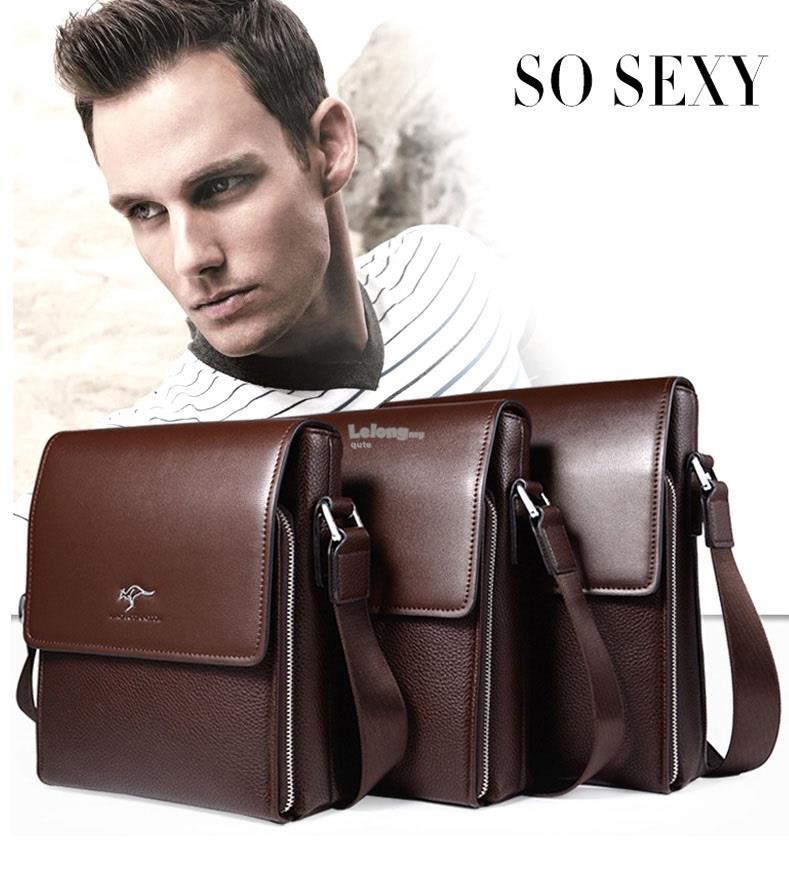 Kangaroo Kingdom 2018 Leather Messenger Bag For Men