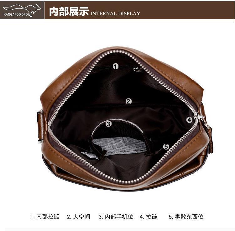 a26f9dafa40c Kangaroo Premium Leather HALF Crossbody Bag Sling Bag Shoulder Bag Men