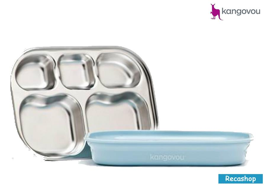 Kangovou Compartment Plates (Frosted Blueberry)