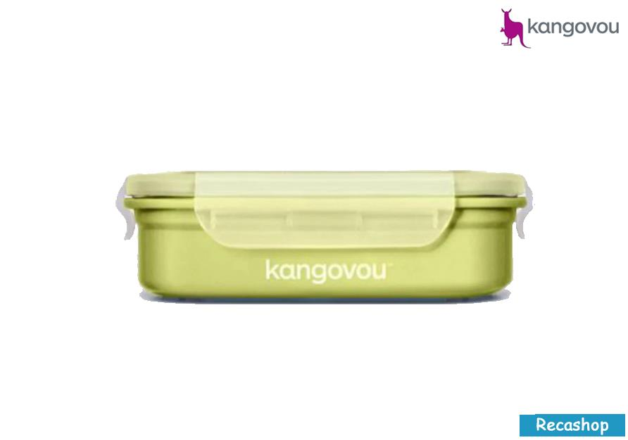 Kangovou Double Insulated Bento Box with Divider - 19oz(Green)