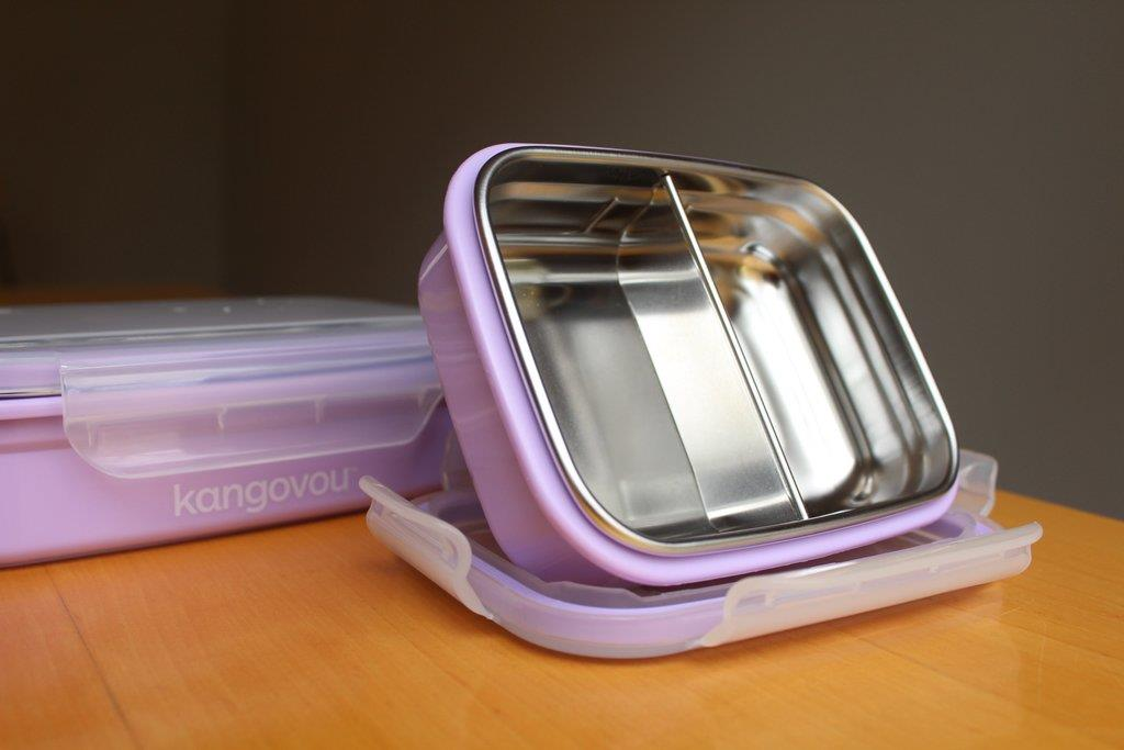 Kangovou Double Insulated Bento Box with Divider - 19oz(Purple)