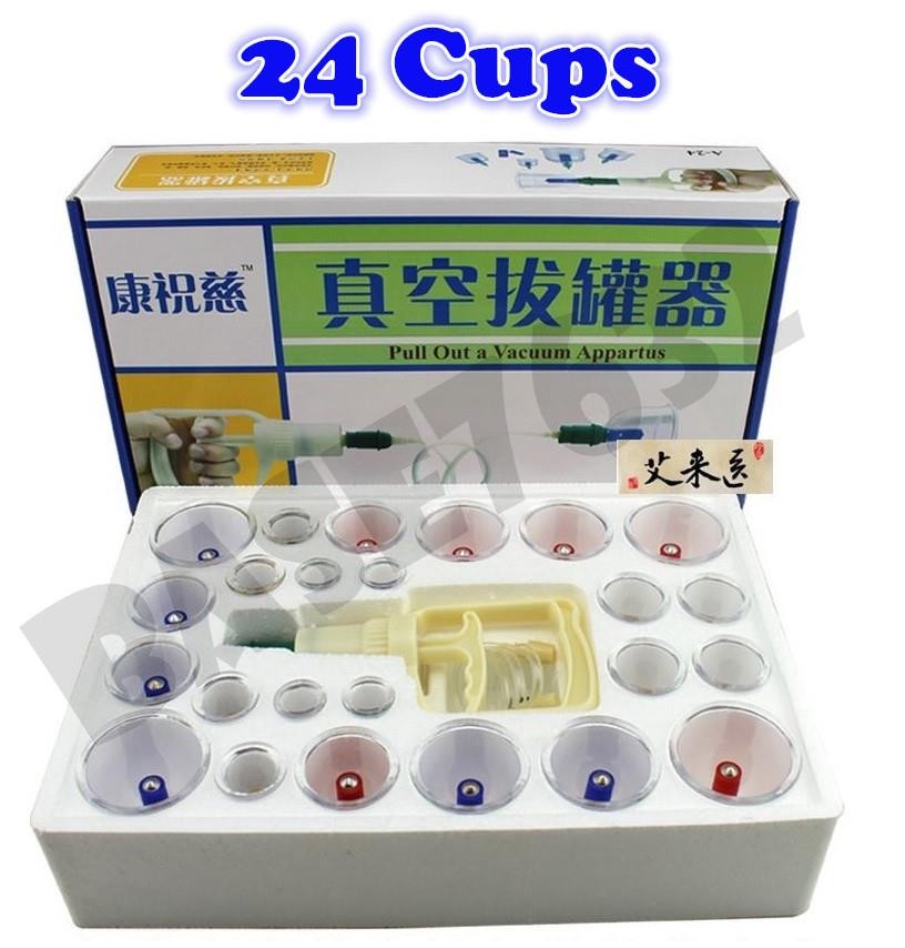 KangZhuCi  24 Cups Biomagnetic Chinese Cupping Set Traditional Therapy