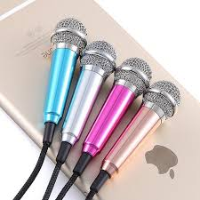 KARAOKE Wired Mic Earphone Mini Microphone for iPhone Android PC