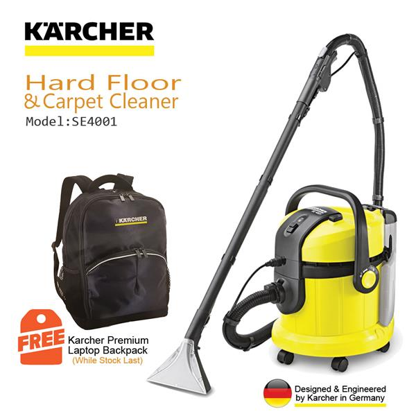 carpet and upholstery cleaner. karcher carpet \u0026 upholstery cleaner se4001 (1400w/2x4litres/210mbar) and