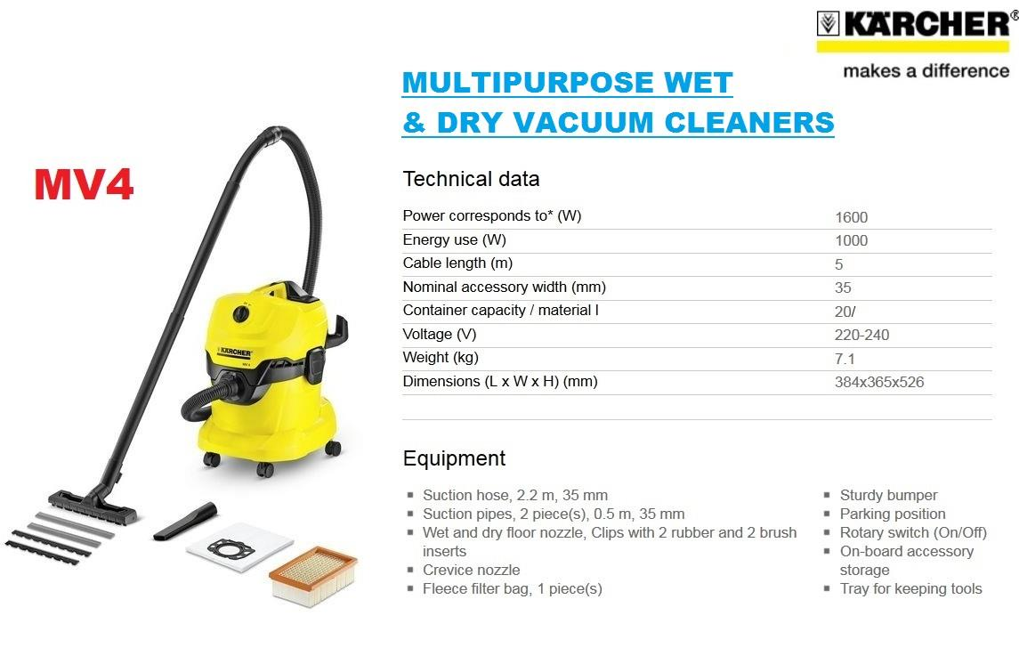 Karcher Mv4 Wet And Dry Vacuum Cleane End 9 3 2018 114 Pm Cleaner Wd 2 Wd4