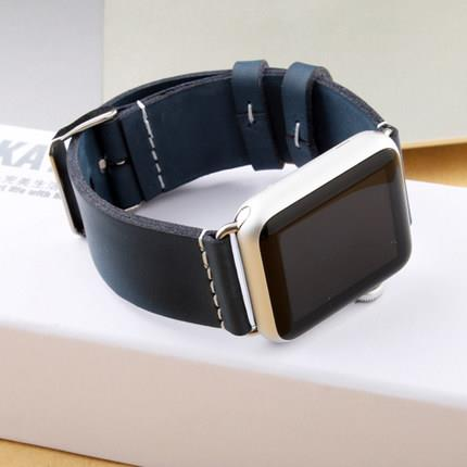 KATEX Apple Watch 42mm 38mm Leather Watchband Band Strap