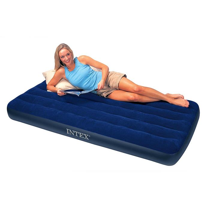 Katil Tilam Angin Intex Inflatable Single Air Bed Mattress Sleeping Ba