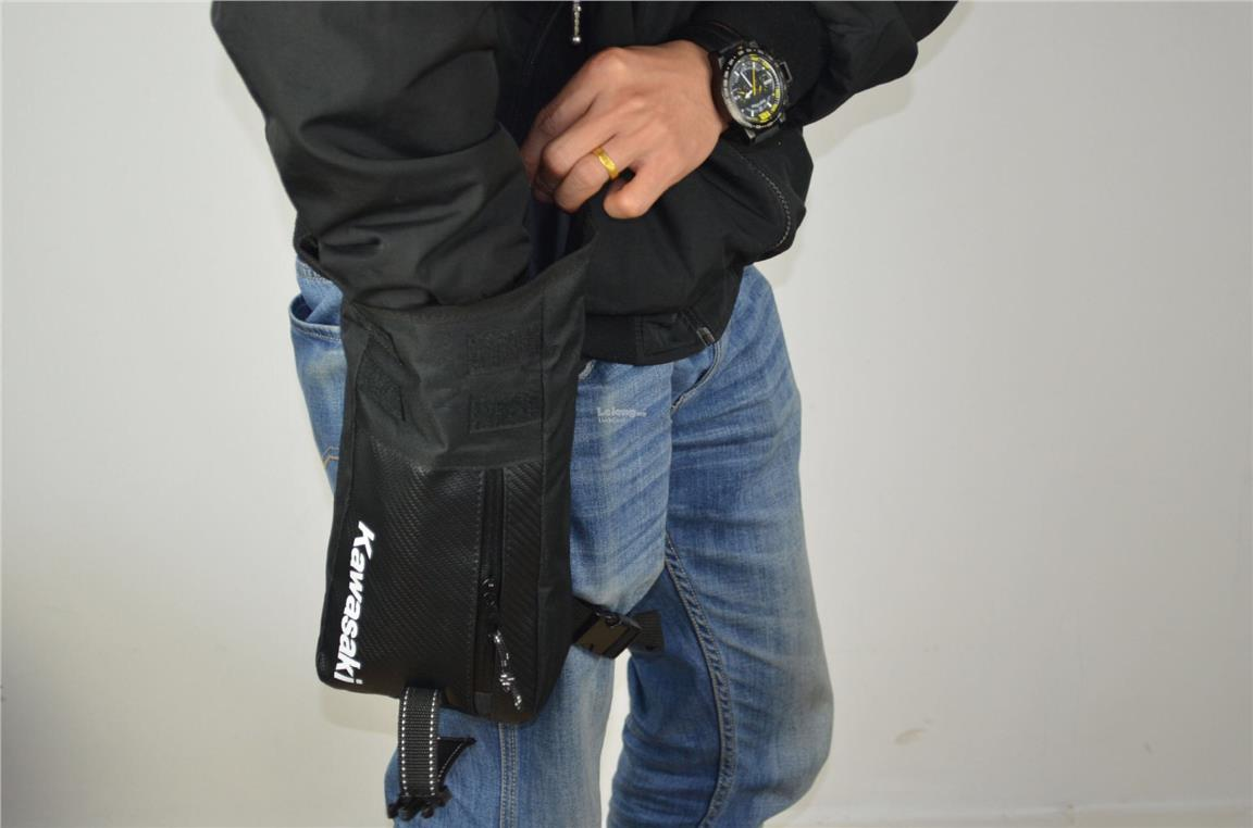 Kawasaki Waterproof Outdoor / Biker Leg Bag Multifunction