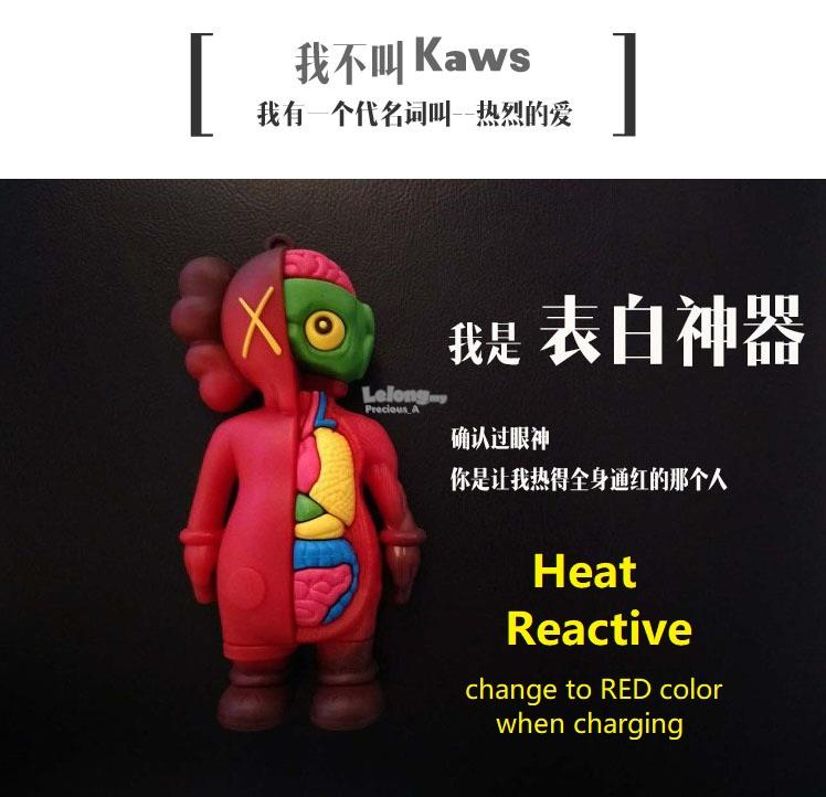 KAWS powerbank heat reaction powerbank 热感变&#33394..