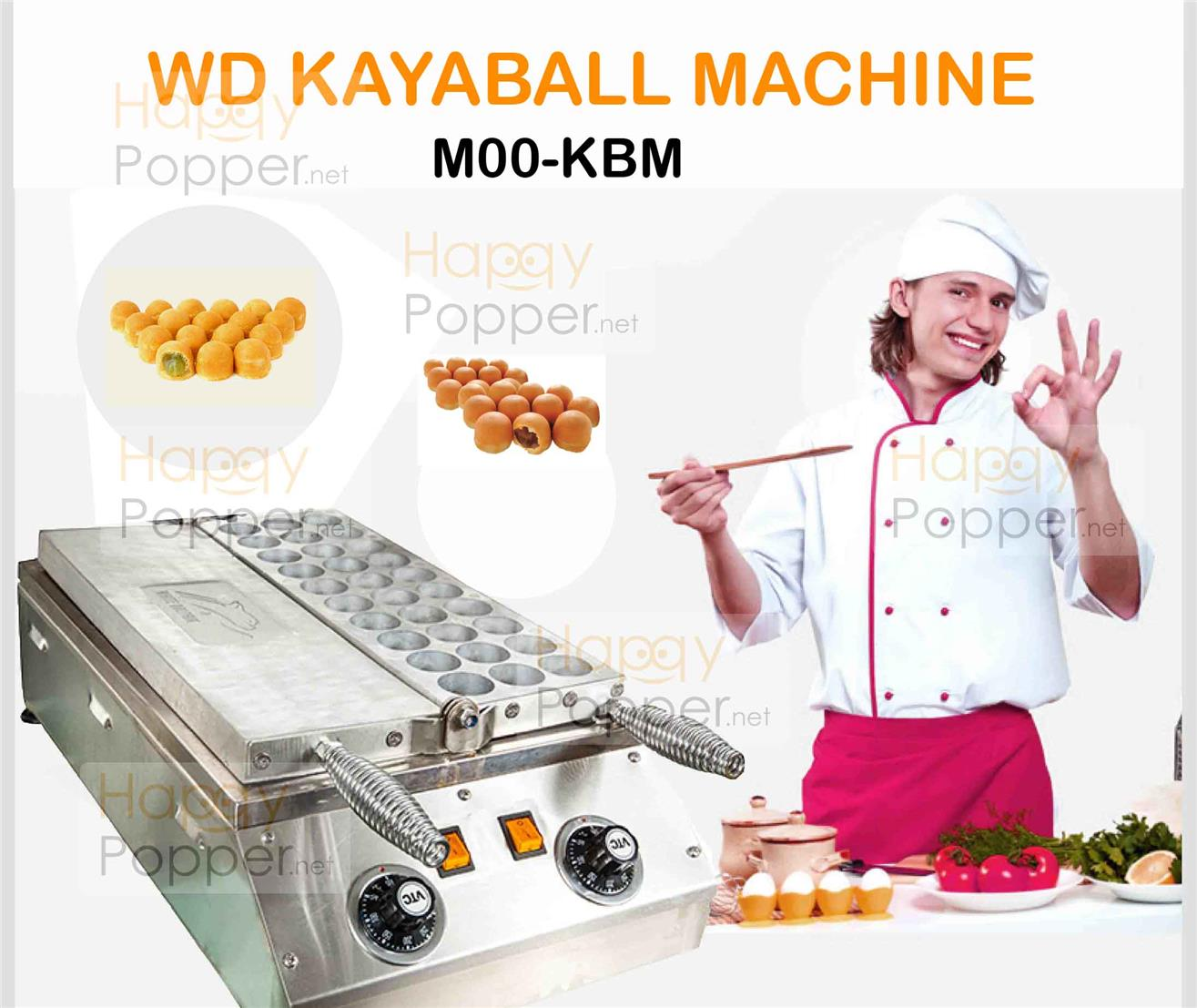 kayaball machine electric snack maker toaster bread maker jam chocolat