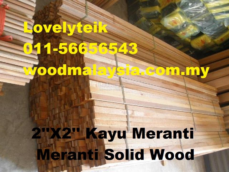 Kayu Meranti Wood Panel Solid Wooden Plank (2x4inch x 6ft)