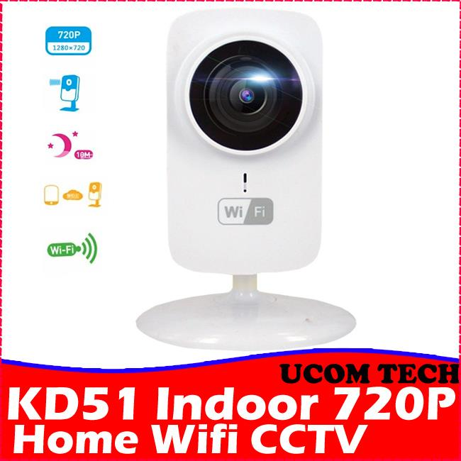 KD51 Indoor Wifi IP Camera CCTV Wifi CCTV Wifi Camera With Infra Red