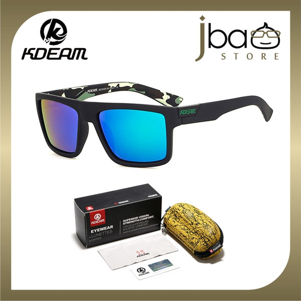 82b7636d8a1b KDEAM Polarized Sunglasses Men Camouflage Outdoor Sport Cycling KD05X-