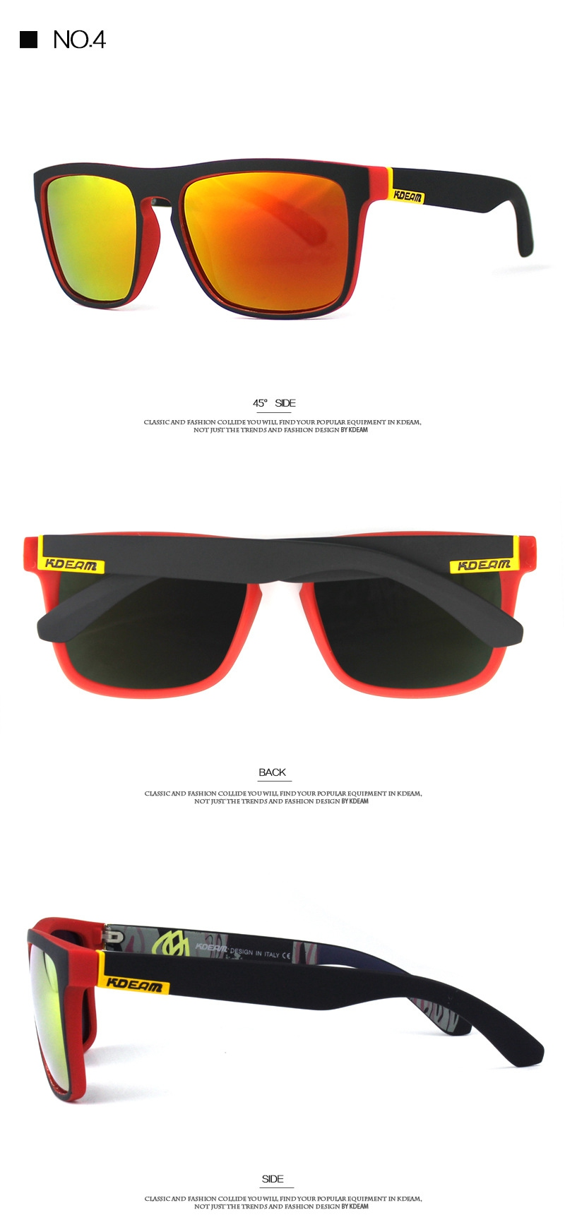 436f8a8220 KDEAM Polarized Sunglasses Men Outdoor Sport Cycling KD156-C4