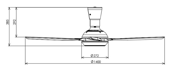 "KDK 56"" Ceiling Fan with Remote Control (Grey Color)"