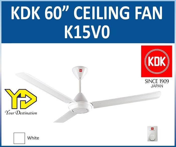 Kdk 60inch Ceiling Fan K15v0 White