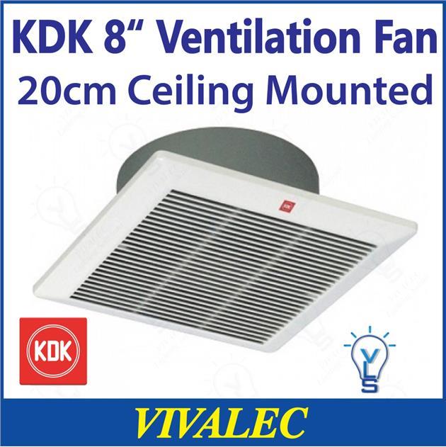Kdk 8 20cm Ceiling Mounted Ventilation Fan 20cqt1 Exhaust