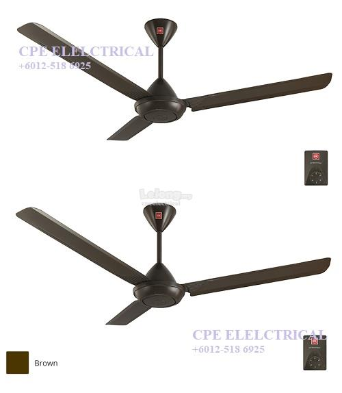 "KDK K15V0-PBR 60"" Regulator Ceiling Fan - Dark Brown (Twin Pack)"
