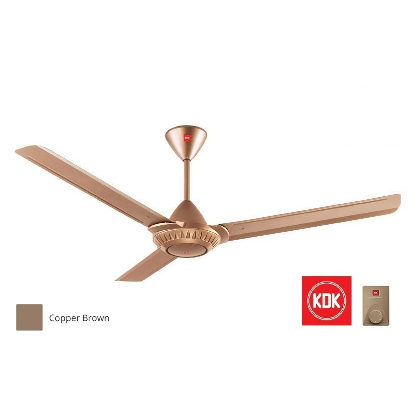 KDK K15W0 Ceiling Fan / Kipas Siling (150cm/60?) Copper Brown