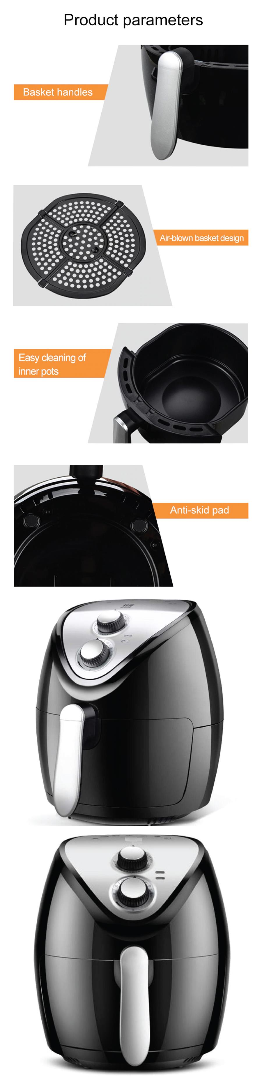 Ke Shuai AF107 Electric Air Fryer Healthy Fried Food 3.5L Oil Free