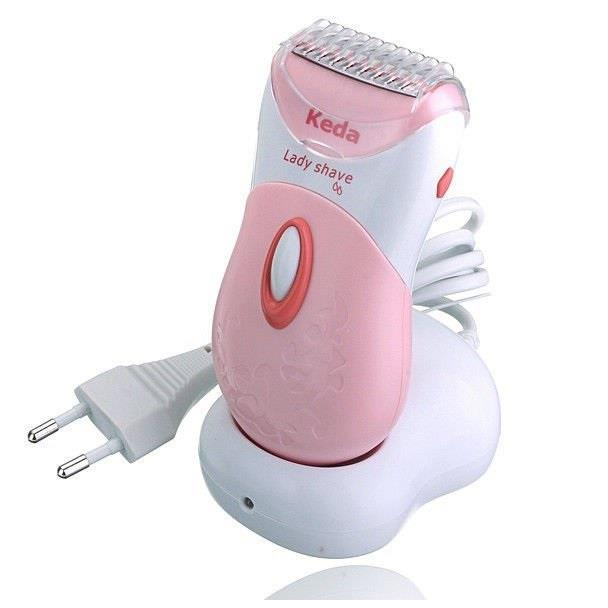 Keda Rechargeable Wet & Dry Lady Body Shaver Hair Shave Trim & Remover
