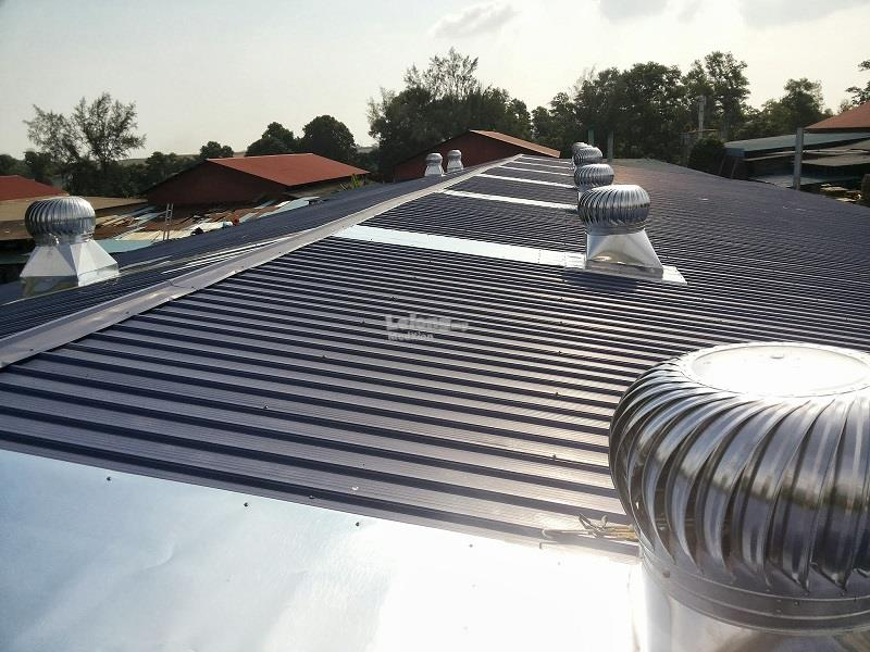 KELANTAN Installation of 2 Units 16 Inch US Wind Turbine Ventilator